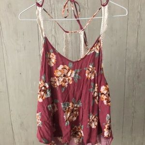 Just wrinkly! Perfect condition floral lush tank